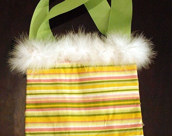 Little Fuzzy Striped Snap Purse