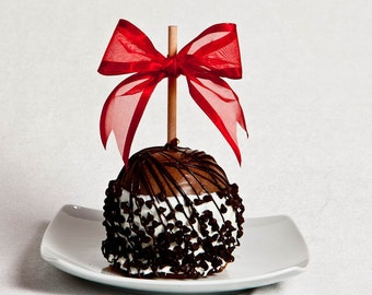 Triple Chocolate Chip Caramel Apple