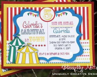 70 Carnival Circus Invitations