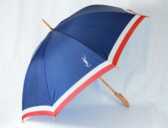 SALE Vintage Yves Saint Laurent YSL Umbrella Parapluie