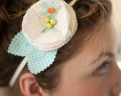 Peach Dream Flower Headband