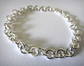 Sterling Silver Plated 5mm Round Link Charm Bracelet - 7 inches