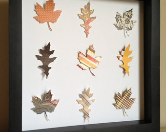 Fall Leaf, 3D Paper art, perfect for your Fall decorating