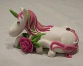 Custom Unicorn & Rose Cake Topper