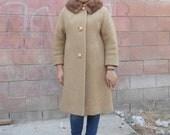 1960s womens coat wit fur collar ON SALE NOW
