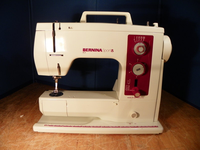 bernina 801 sport sewing machine vg restored swiss. Black Bedroom Furniture Sets. Home Design Ideas