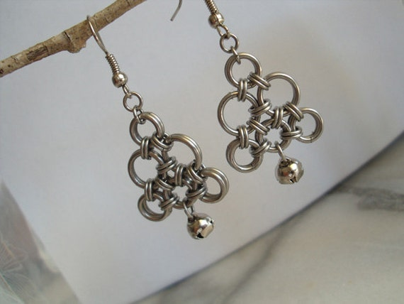 Chainmaille Belled Earrings