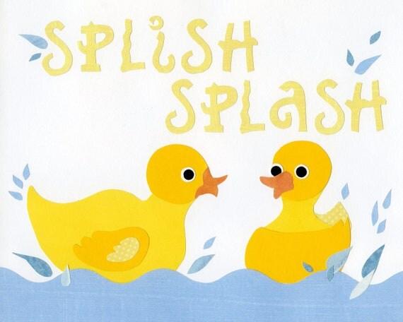 Items similar to rubber ducks bath decor kids ducky wall for Bathroom duck decor