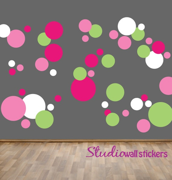 REUSABLE Circles Wall Decal - Childrens Wall Decal