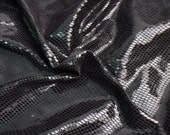 One Yard,Black Shiny Snake Skin Fabric,0.4mm Faux Suede For Clothing Craft,Clothing Fabric,Snake Skin Clothes Fabric
