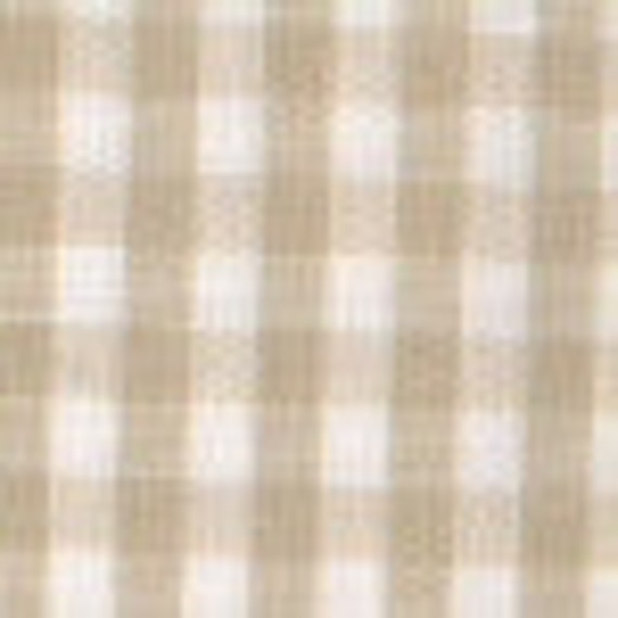 """RESERVED for ASHLYN 1/8"""" Gingham, 60"""" wide, 100% Cotton, Khaki, 5 yards"""