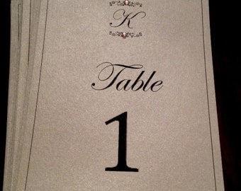 Formal Wedding Table Numbers