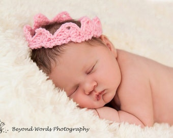 Crochet Baby Crown Tiara Photo Prop