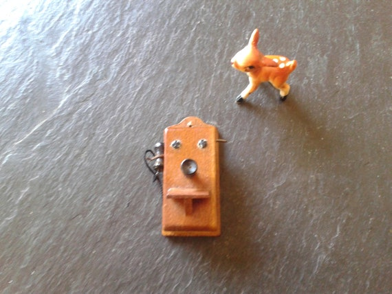 vintage mini telephone by Shackman for miniature dollhouse collector