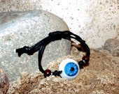Realistic Eyeball Wristband Bracelet Jewelry- Blue - For Men and Women- Hand Crafted