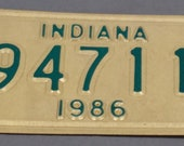 Vintage 1986 Metal Indiana Motorcycle License Plate No. 94711