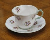Rosina Fine Bone China Teacup and Saucer - Made in England