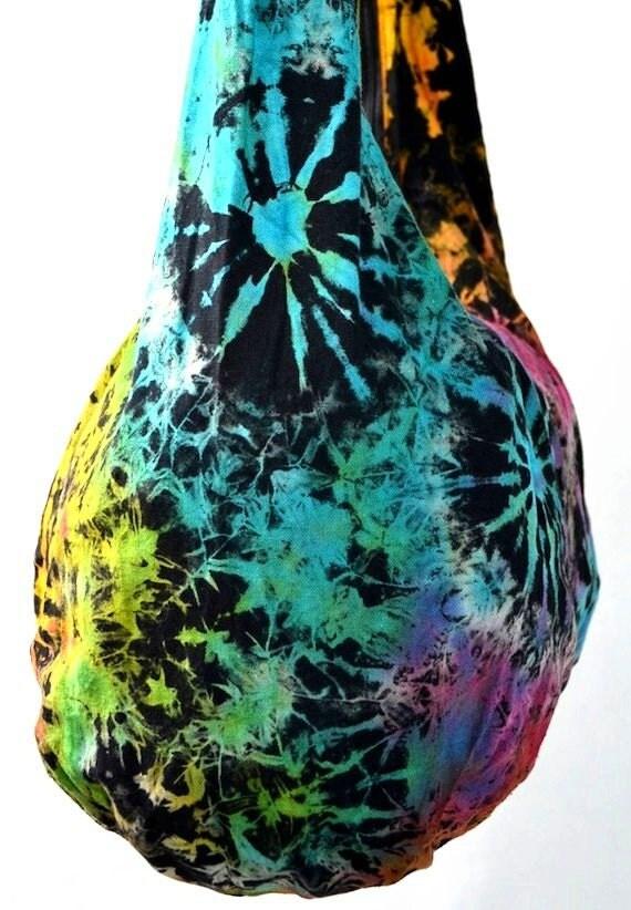 ON SALE - Tie Dye Large Hobo Boho Cross Body Bag Spring Summer Messenger Purse KTDL12107