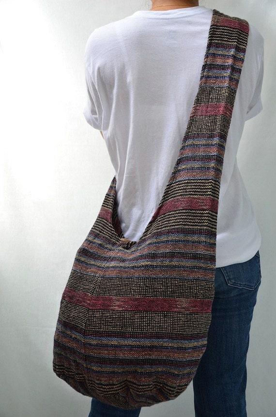 Mix Color Hand Woven Cotton Hippie Hobo Sling Crossbody Bag Messenger SO107