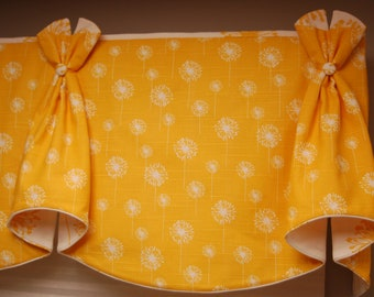 """Made to Order Valance BUNNY EARS Hidden Rod Pocket® Valance to fit 67""""- 86"""" window, made with your fabrics, my LABOR and lining"""