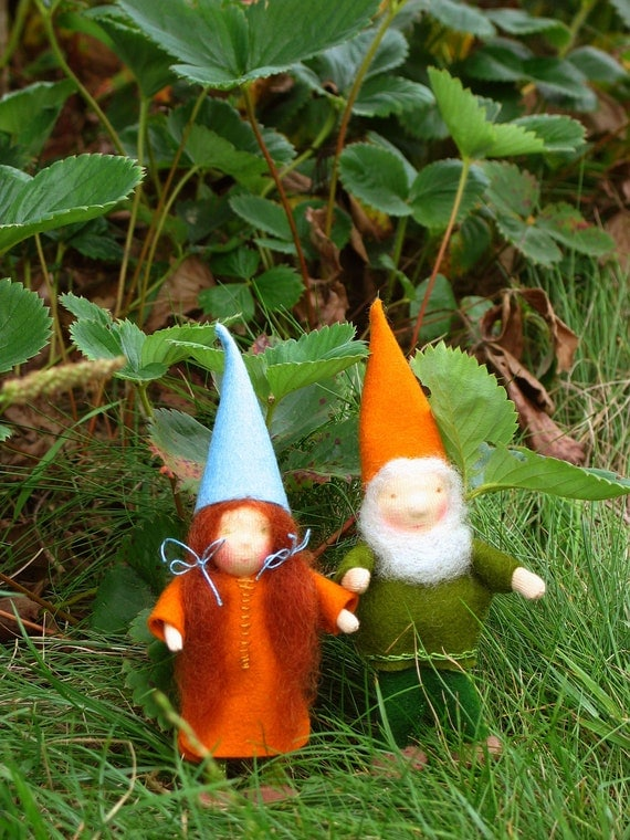 Gnome Waldorf Inspired Bendable Doll Felt Miniature