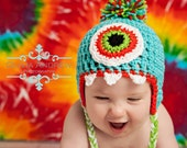 Monster Crochet hat Pattern -- This pattern includes written instructions for sizes newborn - 24 Months