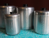 1950s Century Aluminum Ware Kitchen Canisters