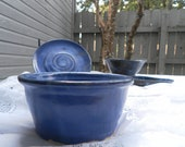 Wheel Thrown Bowl Glazed in Deep Blue