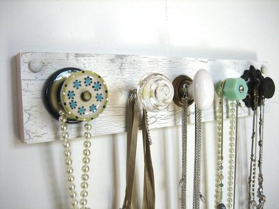 Wall Mounted Jewelry Organizer / Scarf Holder / Coat Rack - Mounted Jewelry Organizer / Scarf Holder / Coat Rack