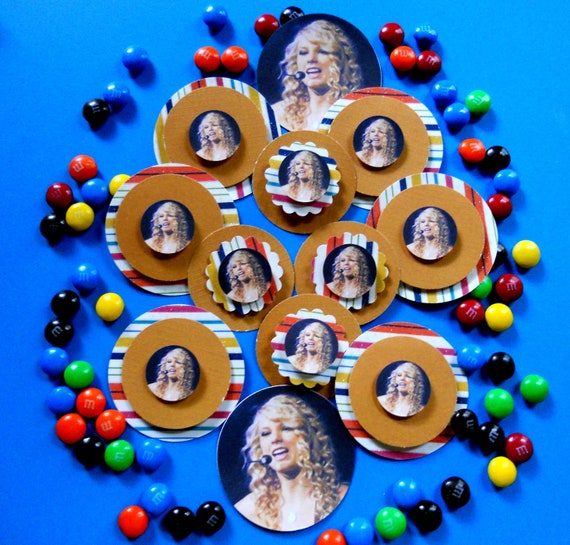 Taylor Swift Cupcake Toppers Set Of 12  Ready To Ship OOAK