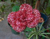 Christmas rose flower, french beaded rose, handcrafted flower rose