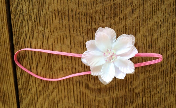 SALE- Pink flower headband