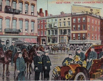 New York City Chief Croker of the Fire Department circa 1910