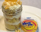 BLISSFUL BANANA MOONPIE Jar Cakes (4) 8 oz. - Moon Pie - Mardi Gras Madness