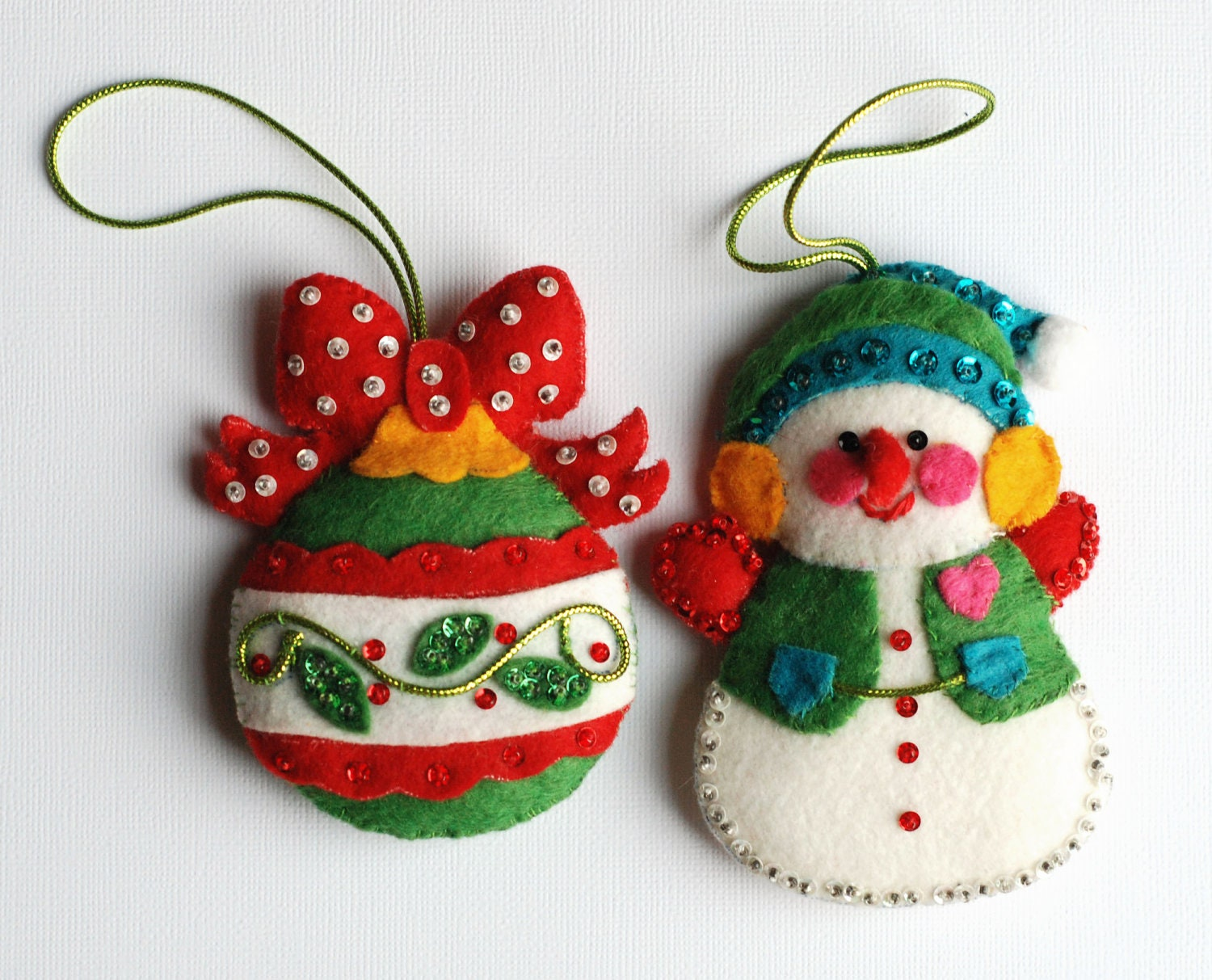 Christmas Crafts Made Out Of Felt