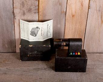 Vintage 1920s American Cine 16mm Projector Color Lens Gadget in Box