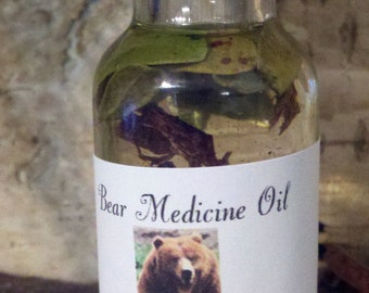 Bear Medicine Oil, Voodoo, Hoodoo, Conjure, Shaman, Sacred, Totems, Spiritual