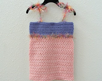 Crochet Layering Top Lavender And Pink
