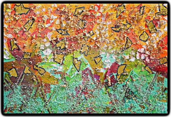 Original Mixed Media - Signed by Artist, Vibrant and Exciting Gallery Wrapped Artwork