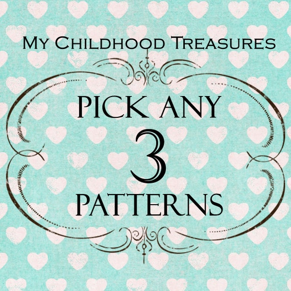SAVE - Choose any 3 sewing patterns - girls dress pattern, childrens sewing pattern, girls sewing pattern pdf, boys sewing pattern, easy