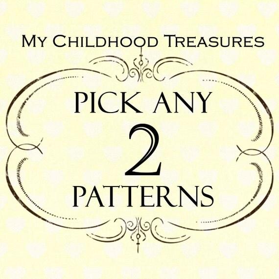 SAVE - Choose any 2 sewing patterns - girls dress pattern, childrens sewing pattern, girls sewing pattern pdf, boys sewing pattern, easy