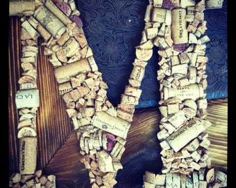 Custom Wine Cork Letter - Made to Order