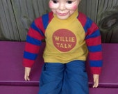1970s Willie Talk Ventriloquist Doll by Horseman- FREE SHIPPING