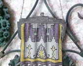 ON SALE Antique Whiting and Davis Metal Mesh Purse (1910-1920)