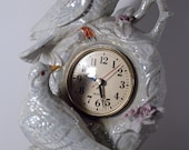 Two Dove Clock Porcelain