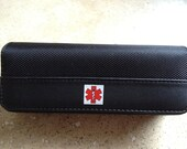 WaistBuddy Epi-Pen Auvi-Q and Insulin Pen carrying case. Designed like luxury smart phone cases.