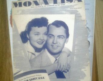3 Vintage Movies Sheet Music Alan Ladd Jennifer Jones