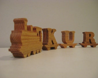Personalized Alphabet Letters Name Train