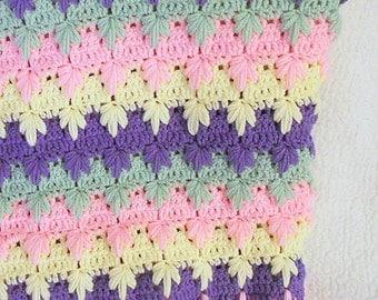 Crochet Pattern - Trailing Leaves Afghan