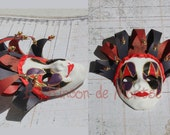 Miniature Venetian Mask Joker 7cm tall aprox.